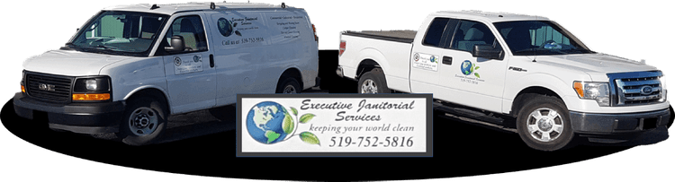 Executive Janitorial Services van and truck